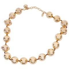 CHANEL Beaded Necklace in Gilded Metal