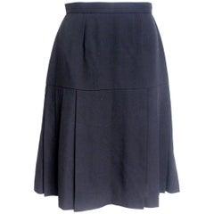Chanel Vintage Black Pleated Skirt F38 UK 10-8, 1994