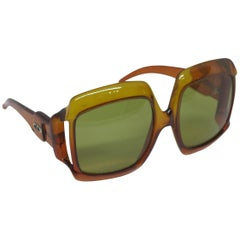 Christian Dior Dark Amber Big Square sunglasses, 1970s