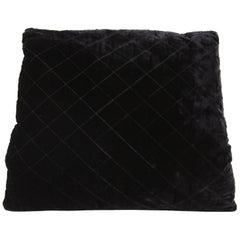 1980s Chanel Matelassé Black Velvet Muff
