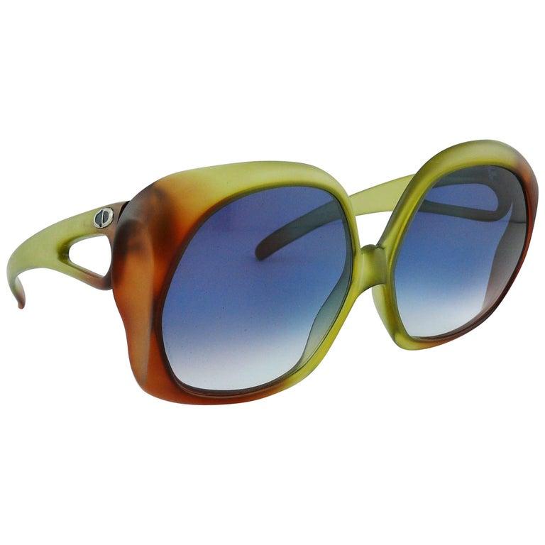 Christian Dior Vintage Oversized Sunglasses Model 2005