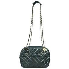 Chanel Vintage Black Quilted Lambskin Crossbody Bag