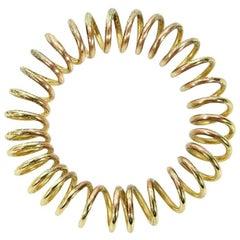 Chanel Vintage Goldtone Coil Bracelet
