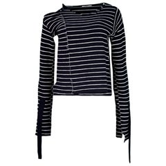 Celine Navy & White Stripe Top Sz M