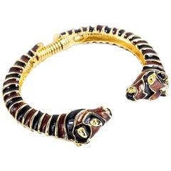 80s Kenneth Lane Enamel Giraffe Bracelet
