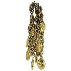 Goldtone Vintage Chanel Charm Bracelet