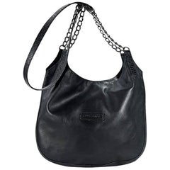 Black Longchamp Leather Crossbody Bag