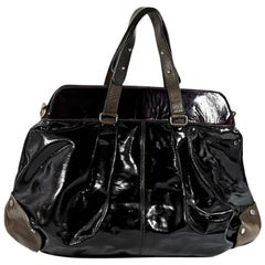 Brown Marni Patent Leather Shoulder Bag