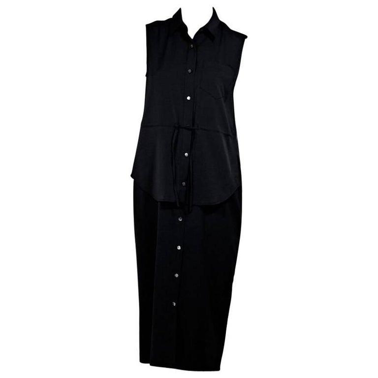 Black Alexander Wang Tiered Dress