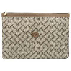 Gucci Monogram GG Men's Portfolio Travel iPad Laptop Travel Envelope Clutch Bag