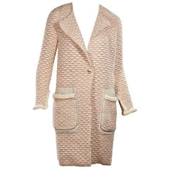 Pink & Cream Bottega Veneta Sweater Coat