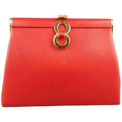 Vintage LOEWE Red Leather Purse Clutch