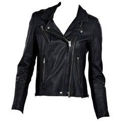Black Iro Distressed Leather Jacket