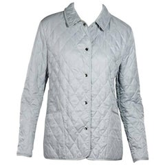 Light Blue Burberry London Quilted Jacket