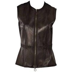 Brown Lanvin Leather Vest