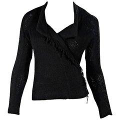 Black Iro Woven Moto Jacket