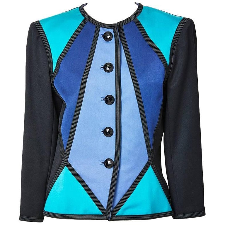 Yves Saint Laurent Color Block Dinner Jacket