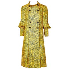 Galanos Double Breasted Coat Dress