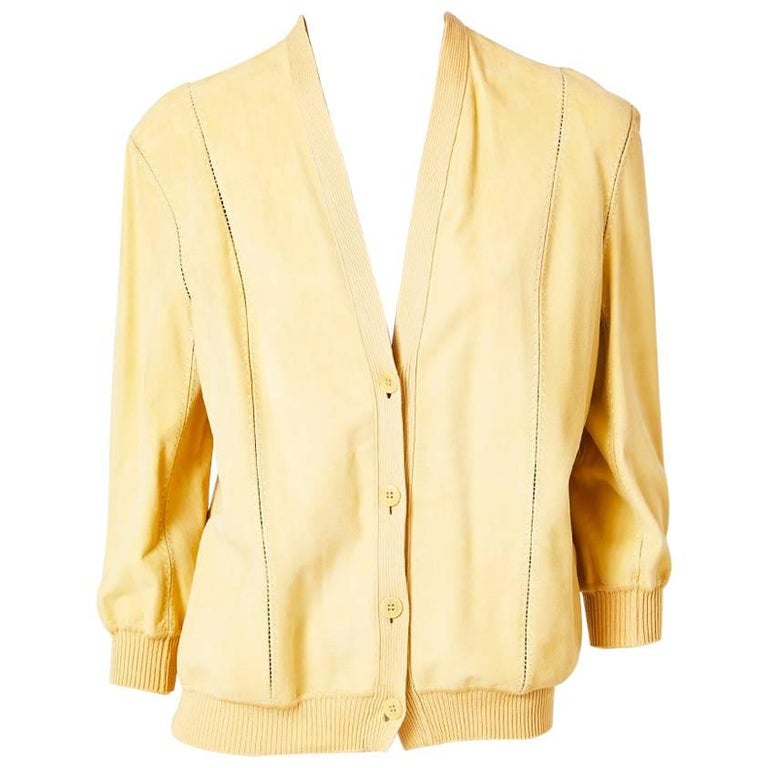 Martin Margiela Hermes Suede and Knit Cardigan