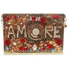 Dolce & Gabbana Fall 2015 'Amore' Virna Embellished Clutch
