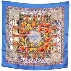 Hermes Colorful Silk Scarf