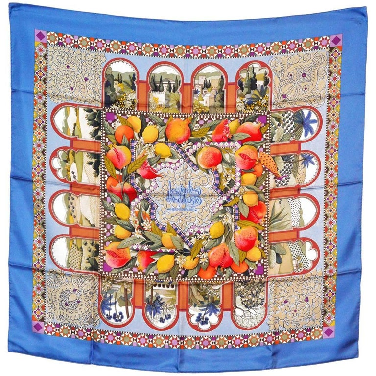 Hermes Colorful Silk Scarf For Sale