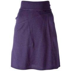 1980s Azzedine Alaia Purple Skater Skirt