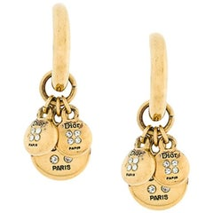 Christian Dior Gold Tone Clip On Earrings
