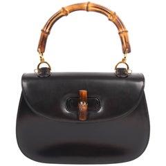 Gucci Classic Bamboo Top Handle Bag Vintage - black