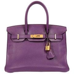 Hermes Ultra Violet Togo 30 cm Birkin Bag with GHW