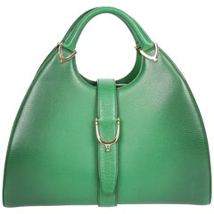 Gucci Stirrup Top Handle Bag - green   Gucci Stirrup Top Handle Bag - green