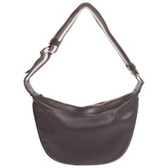 Gucci Leather and Canvas Shoulder Bag - brown/light blue