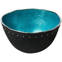 Rimmed Turquoise Bowl