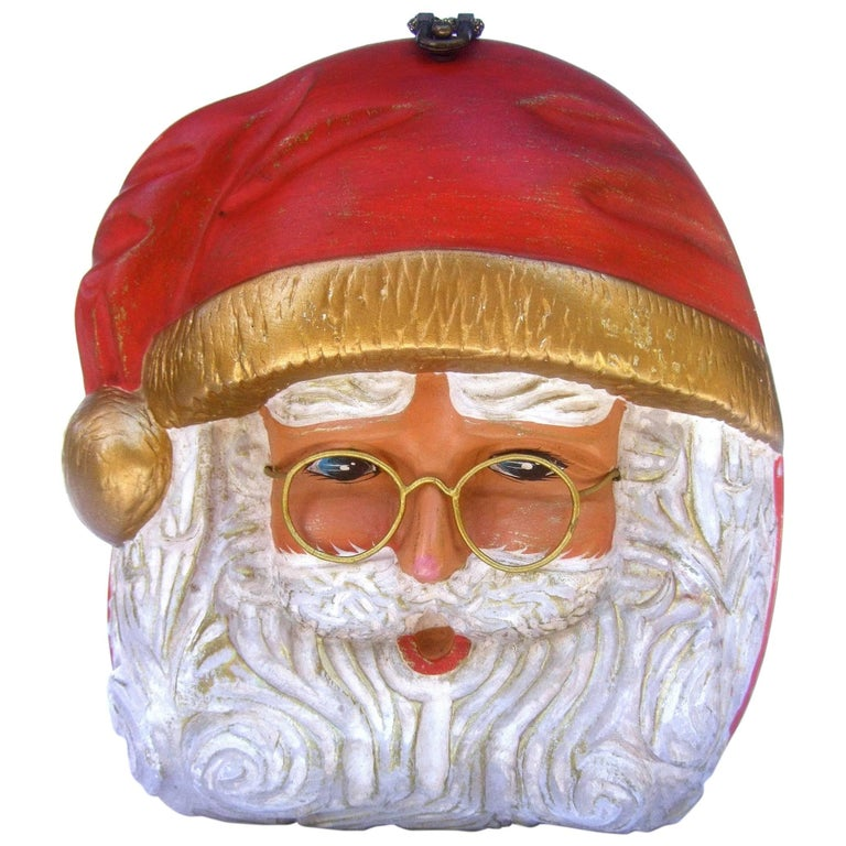 Timmy Woods Beverly Hills Whimsical Artisan Santa Claus Handbag