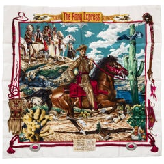 Collectible Hermès Pony Express Silk Twill Scarf, Oliver