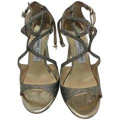 Jimmy Choo Glitter Strappy Heels