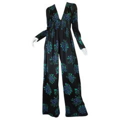 Ossie Clark Celia Birtwell Print Jumpsuit Owned by Celia Birtwell, circa 1974