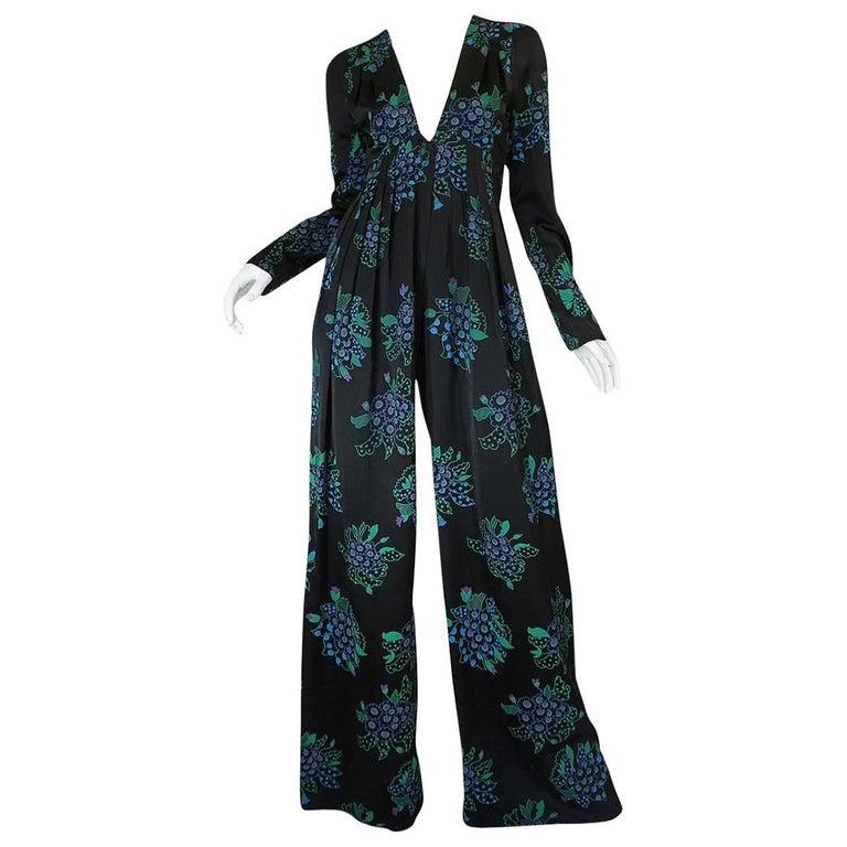 c1974 Ossie Clark Jumpsuit Celia Birtwell Print & Owned