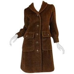 1960s James Galanos 'Teddy Bear' Faux Fur Coat