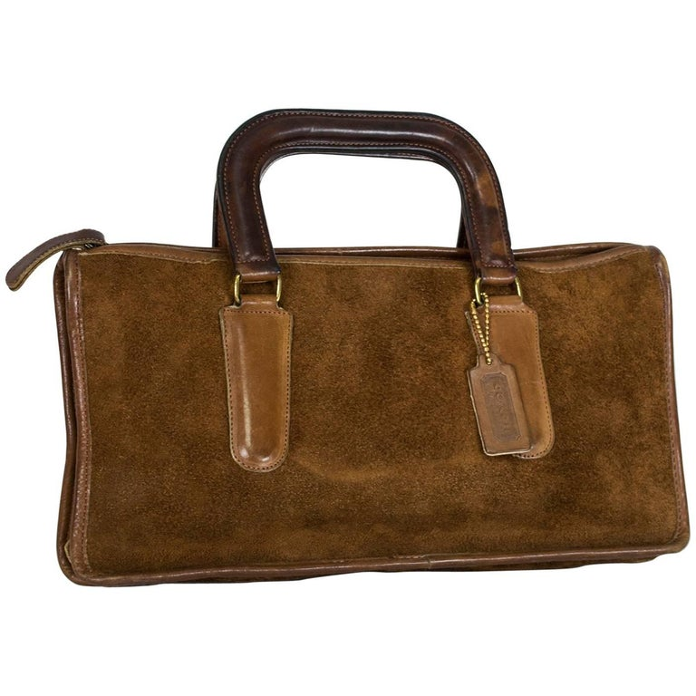 Bonnie Cashin Coach Suede Soft-Sided Mini Briefcase, 1970s