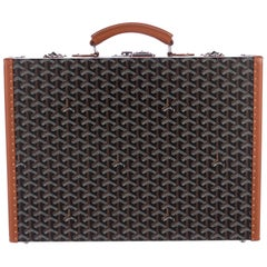 Goyard Monogram Cognac Men's Women's Business Travel Brief Case Briefcase