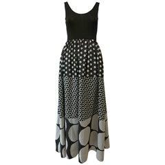 1960s Rudy Gernreich Opt Print Dress
