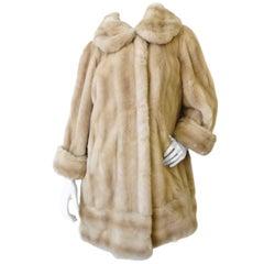 Faux Mink Fur Coat, 1960s