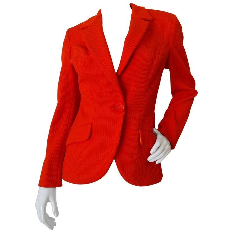 1990s Versace Bright Orange Blazer