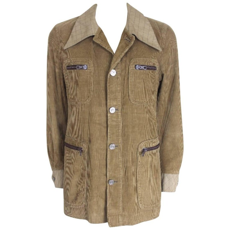 Vintage Pierre Cardin 1970s Mens Corduroy Jacket