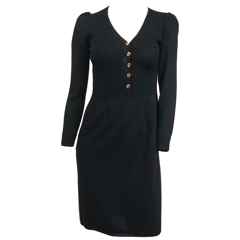 1980s St. John Knit Button Front Dress