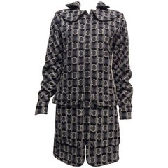 Chanel Runway Grey White Black Lesage Coat Sz42 ( Us 10)