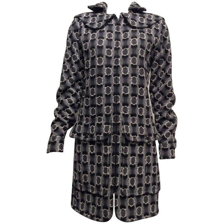 Chanel Runway Grey White Black Lesage Coat Sz42 ( Us 10)