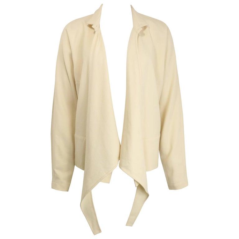 Dries Van Noten White Wool Shirt Jacket