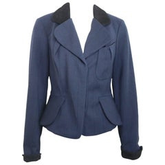 Vivienne Westwood Blue Wool Stripe Jacket